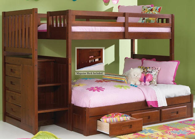 Ferguson Twin over Full Stairway Bunk Bed